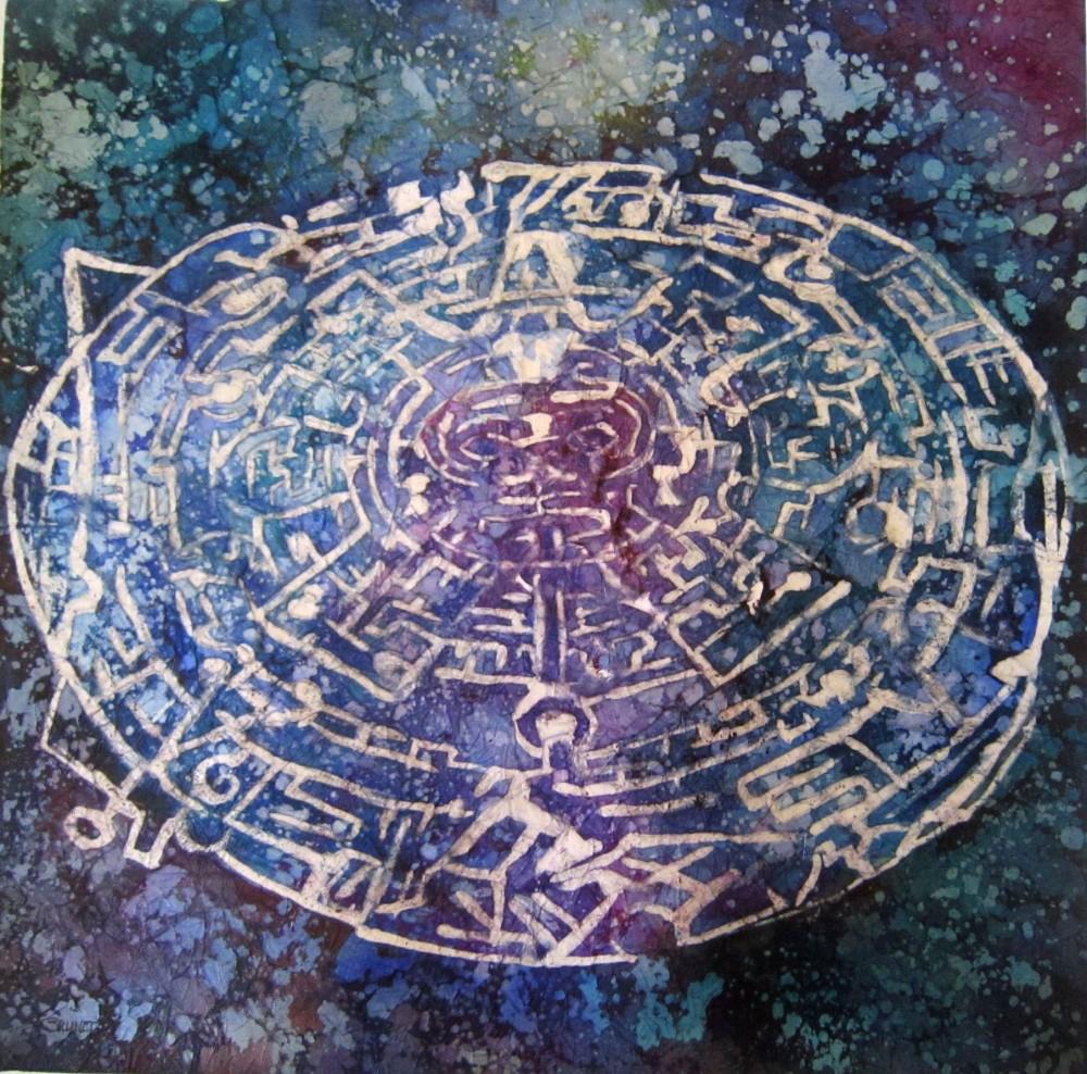 le labyrinthe-aquarelle Batik